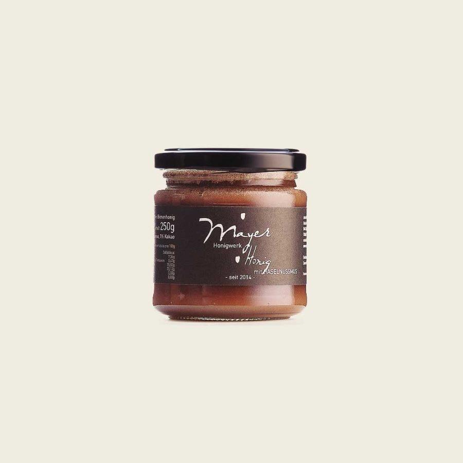 Honig mit Haselnussmus 250g